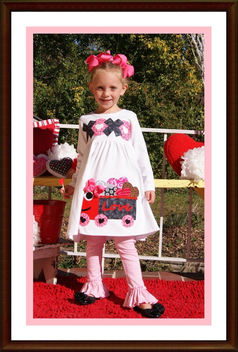 76b24a945cb5 Valentine Dress for Little Girls Love Truck Big Girl