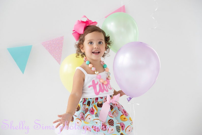 Donut Birthday Outfit 2 ANY AGE Short Sleeve and Long image 0