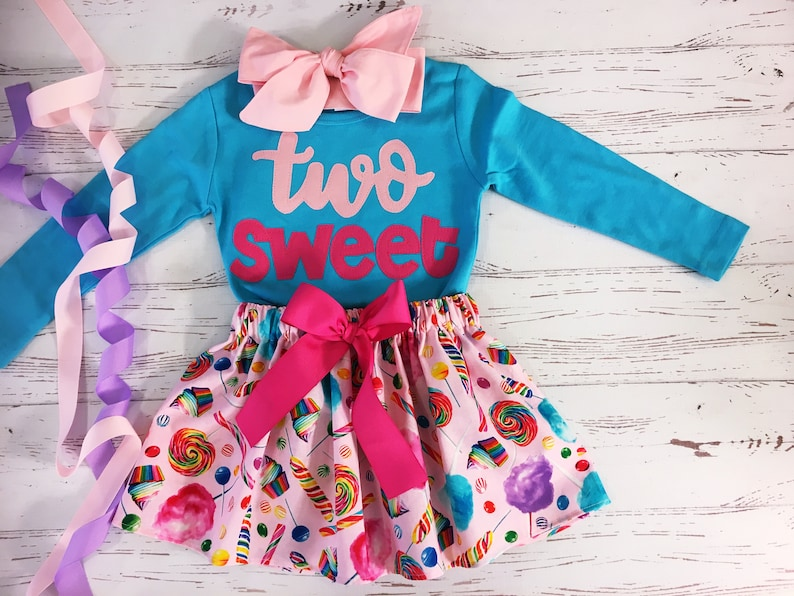 Two Sweet Birthday Outfit ANY BIRTHDAY Sweet One Birthday image 0