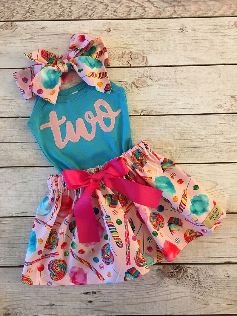 Candy Birthday Outfit ANY BIRTHDAY Sweet One Birthday image 0