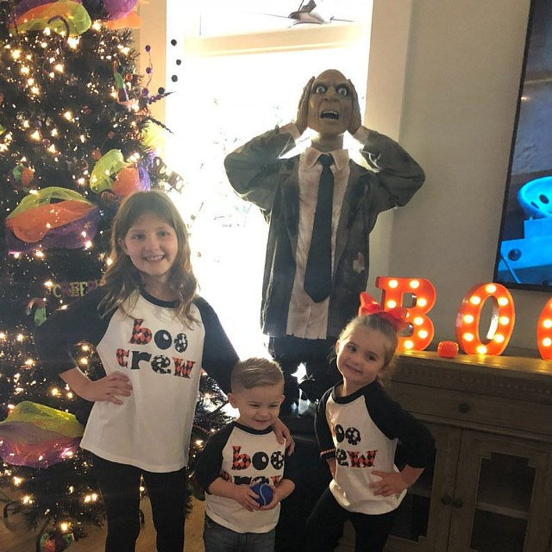 BOO Crew Shirts for Children Raglan Shirt with Halloween image 0