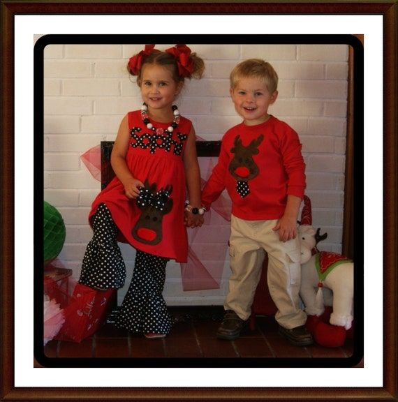 image 0 - Matching Christmas Outfit For Children Brother And Sister Etsy