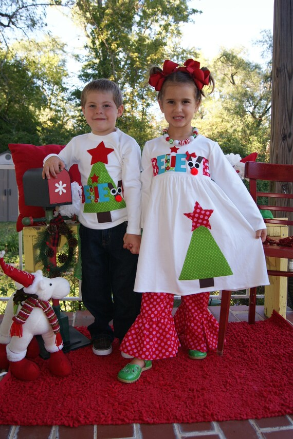 image 0 - Matching Christmas Outfits Brother And Sister Believe Set For Etsy