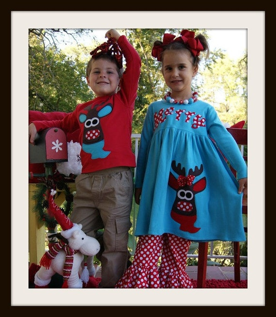 image 0 - Matching Christmas Outfits For Children Brother And Sister Etsy