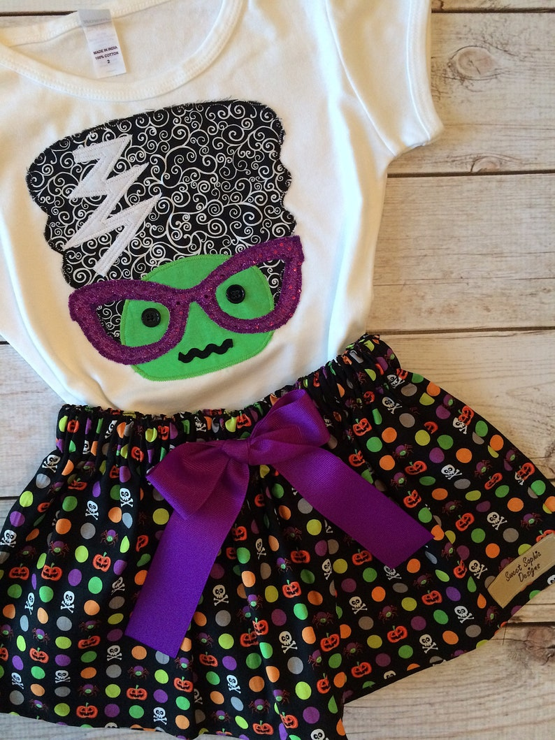 Monster Halloween Shirt for Girls Toddler and Youth Girls image 0