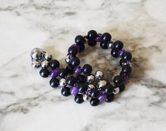 Anti Stress Flipping Beads | Amethyst Fidget Beads | Stress Relief Beads | Spiritual Beads | Prayer Beads | Meditation Beads | Therapeutic