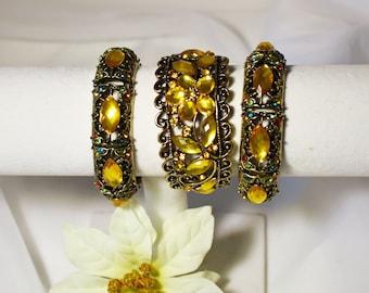 Yellow Amber Goddess Bracelets