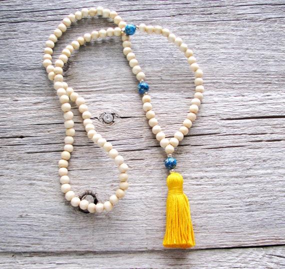 Blue Jasper 108 Bead Meditation Mala