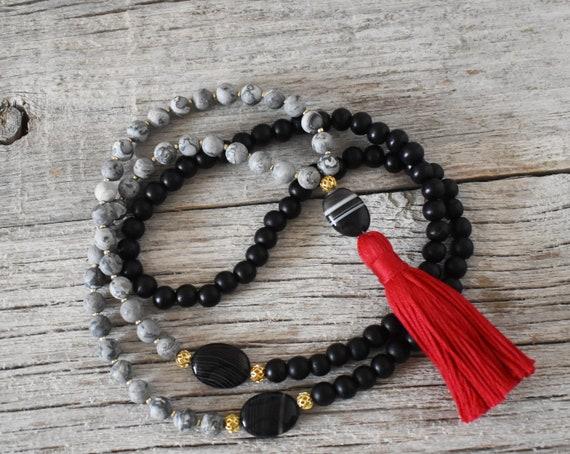 Black Onyx Meditation Mala