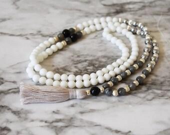 Supreme Protector Mala | Labradorite 108 Bead Meditation Mala | Spiritual Jewelry | Meditation Beads | Mindful Gift