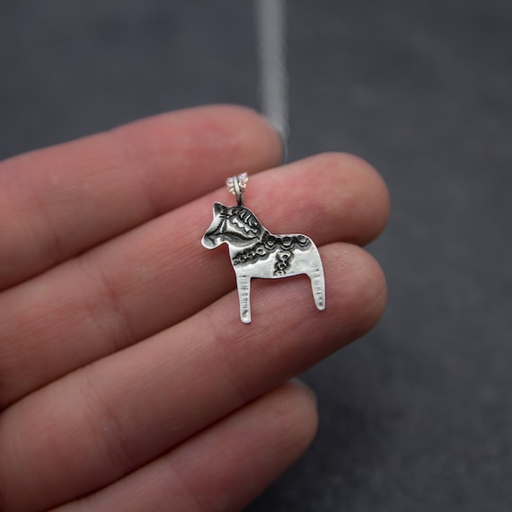 sterling silver horse pendant, horse jewellery, horse charm