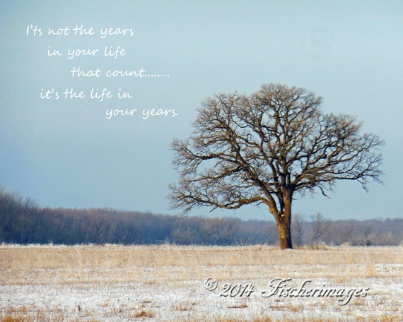 Bare Lone Tree With Inspirational Quote Color Wall Art Home Etsy