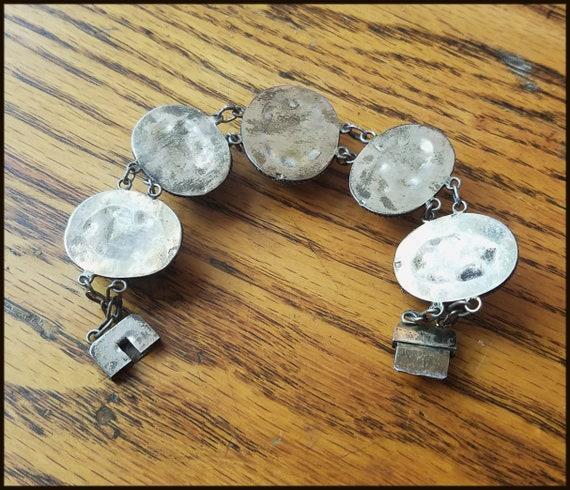 Vintage Egyptian Revival Scarab Bracelet - image 10