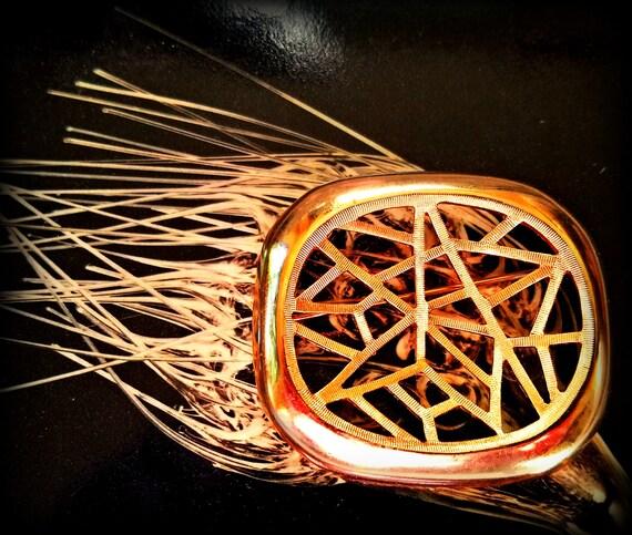 Trifari Crazy Textured Spiderweb Brooch
