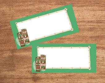 Instant Download Tiki Party Tent Cards Seating Cards