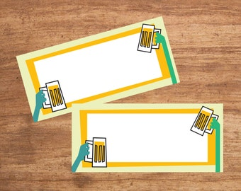 Instant Download Beer Party Tent Cards Seating Cards