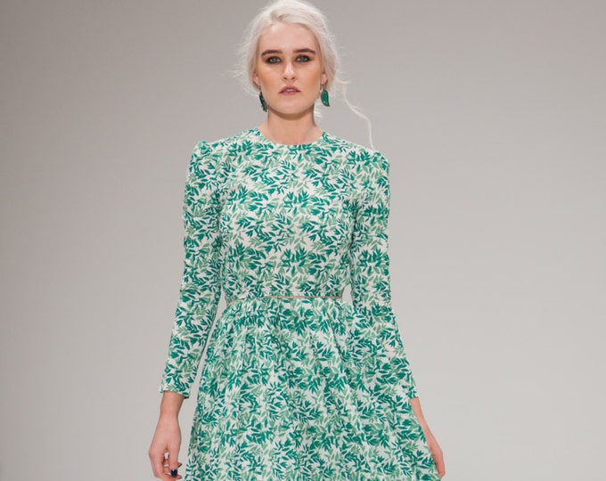 Raven Spring Green Flower Dress