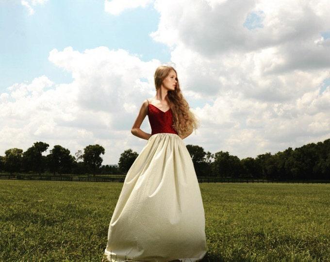 Seersucker Diamond Silk Summer Dress