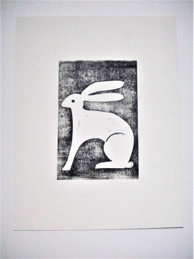 Prints--Handsome White Rabbit