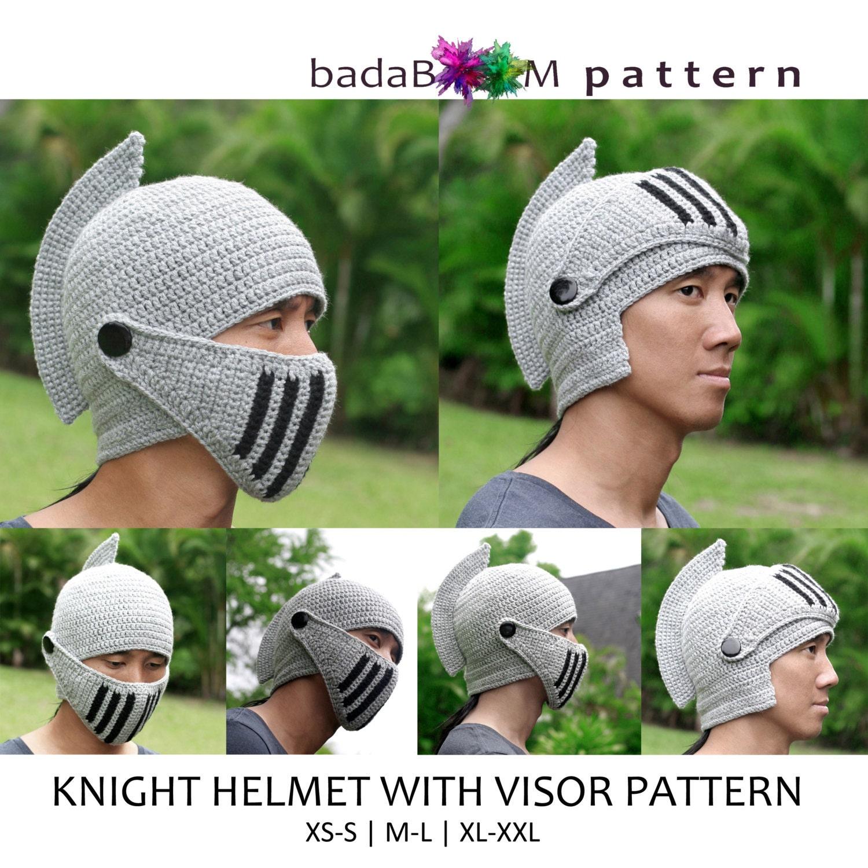 Pdf Crochet Pattern Adult Men Woman Knight Hat Roleplay Etsy