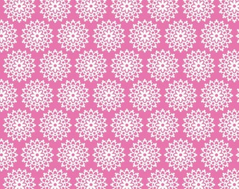 Lovey Dovey Riley Blake Fabric - 1 Yard Pink Lace