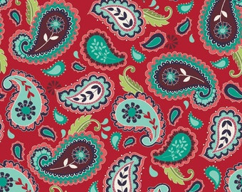 La Vie Boheme Paisley in Red By The Quilted Fish