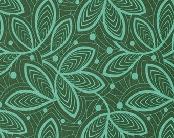 Leaf Lines in Jade from the Violette Collection by Amy Butler  - 1 Yard
