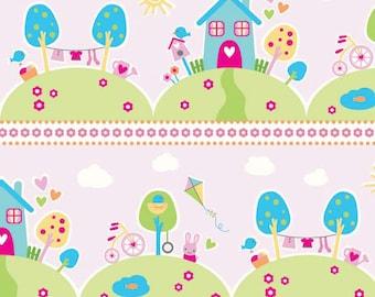 Sweet Home Riley Blake Fabric - 1 Yard Main in Pink