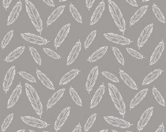 By Popular Demand Feathers in Gray - 1 Yard