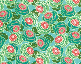 Clouded Floral in Sea Glass Dream Weaver Fabric by Amy Butler - 1 Yard