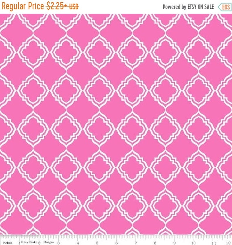 Fall Clearance Geometric in Pink Extravaganza Fabric image 1