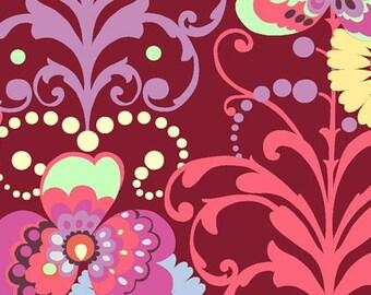 Amy Butler Fabric - Love Paradise Garden Wine - 1 Yard