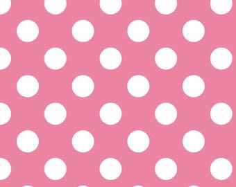 Riley Blake Fabric - Half Yard of Medium Dots in Hot Pink