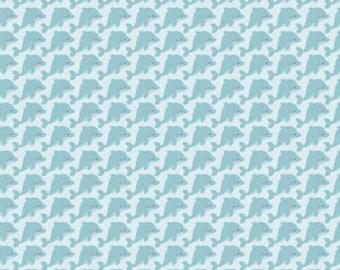 Sea Dolphins in Aqua by Riley Blake Fabrics Half Yard