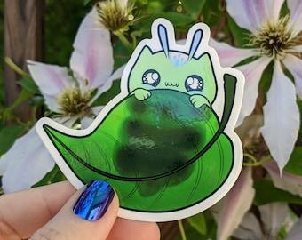 Kittypillar Leaf Sticker