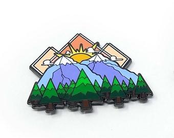 Mountain Sunset Hard Enamel Pin