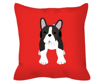 French Bulldog throw pillow cushion. Nursery decor, children's play area, perfect for dog lovers. Professionally printed with zipper