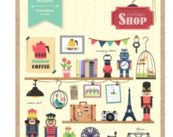 Shop Keeper Sticker Set by Sonia 1 Sheets SS531