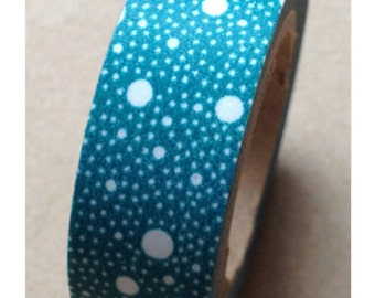 Teal Washi Tape with translucent bubbles Full Roll WT327 11yards