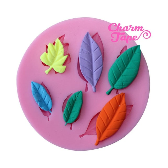 Leaf Leaves Silicone Mold -food mold / uv resin molds C005