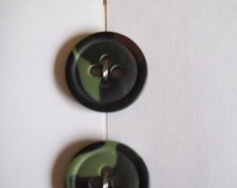 Camoflauge buttons 19 mm- green camo