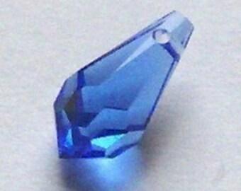Swarovski Sapphire Teardrop
