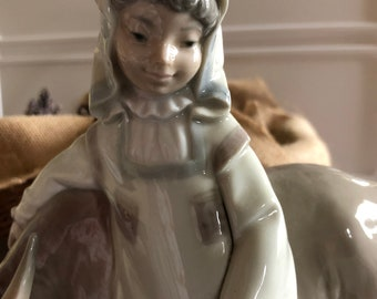 Lladro Girl From Manchuria Collectible Girl with Water Buffalo Figurine