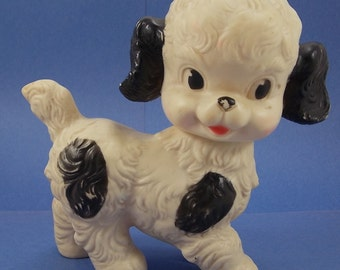 Ruth E. Newton Sun Rubber Company Collectible Squeaky Black and White Puppy Dog