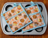 Cupcake Potholders, set of two RESERVED FOR LAURA