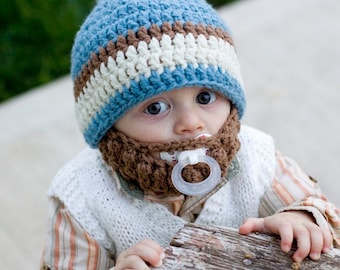 4661df15a14 Infant ULTIMATE Country Blue Bearded Beanie