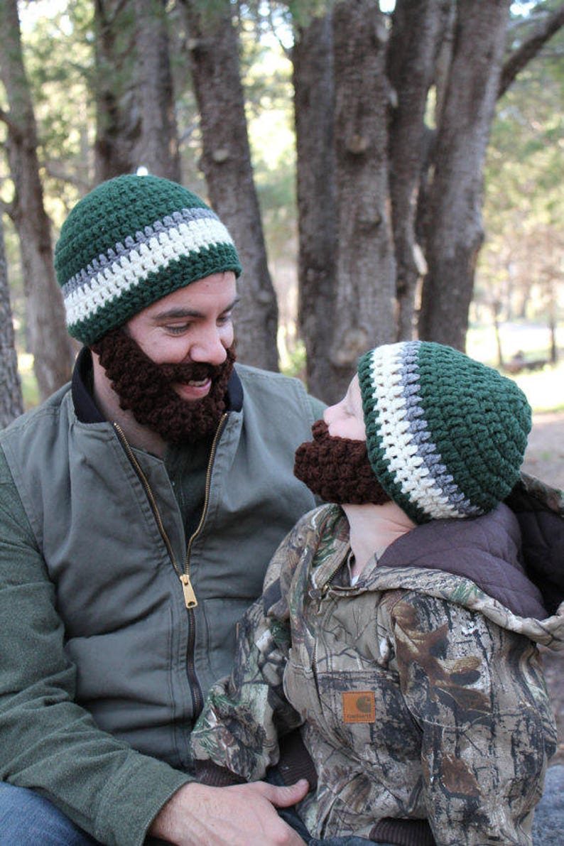 SALE Father/Son ULTIMATE Bearded Beanies image 0