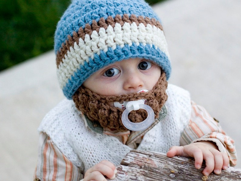 Infant ULTIMATE Country Blue Bearded Beanie image 0