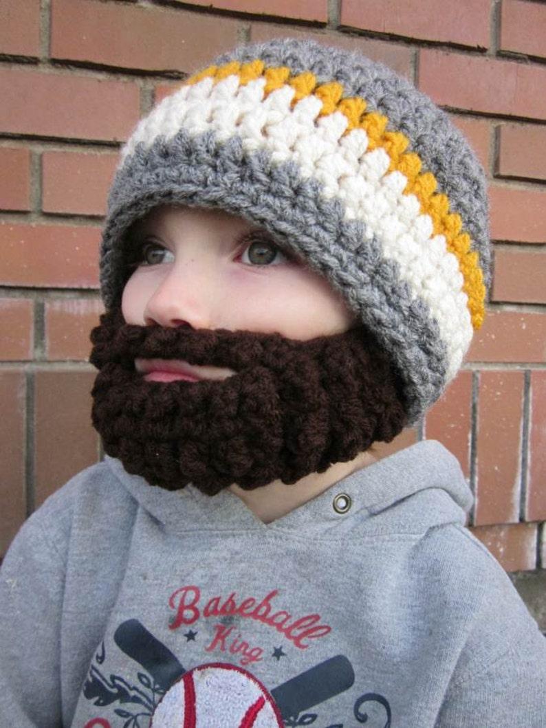 Kids ULTIMATE Bearded Beanie Grey Mix image 0