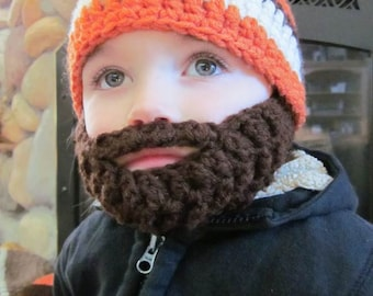 Kids ULTIMATE Bearded Beanie Orange Mix